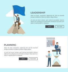 leadership and planning vector image