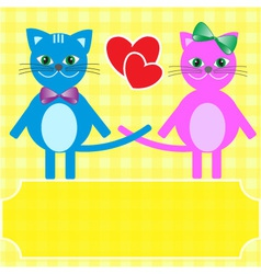 Love cats vector