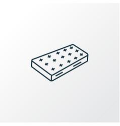 mattress icon line symbol premium quality vector image