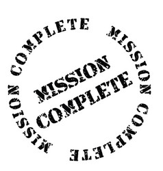 Mission complete stamp on white vector