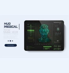 modern medical examination in hud style design vector image