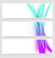 Modern web particle and line header collection vector