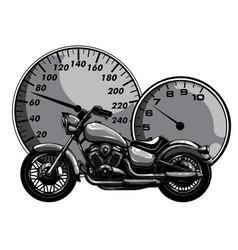 monochromatic motorbike rider abstract vector image
