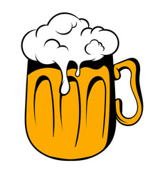 mug of beer icon icon cartoon vector image
