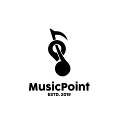 music point logo design inspiration vector image