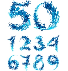 Numbers set splash vector
