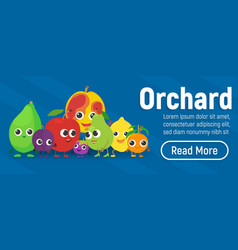 Orchard concept banner isometric style vector