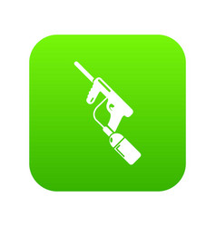 paintball gun charging icon green vector image
