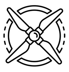 Propeller rotation icon outline style vector