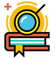 Pursuit of knowledge linecolor vector