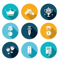 Reward Icons Set vector image