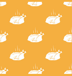 seamless pattern from hot thanksgiving turkey vector image