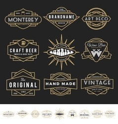 Set of retro badge logo for vintage product vector