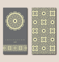 Set of two cards for greeting invitation wedding vector