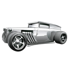Silver Hot Rod vector