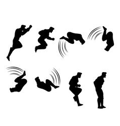 Spin jumping animation sprite vector