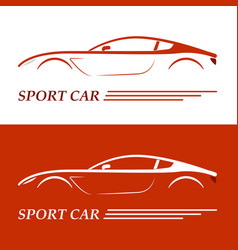 Sports car coupe vehicle silhouette vector