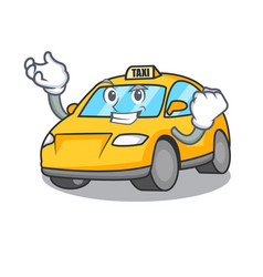 Successful taxi character cartoon style vector