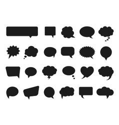 Talk and think comics bubbles silhouettes vector image vector image