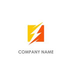 thunder bolt energy logo vector image