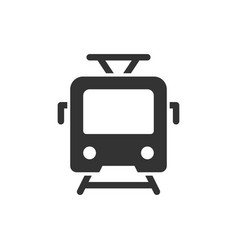 Tram front view glyph style icon vector