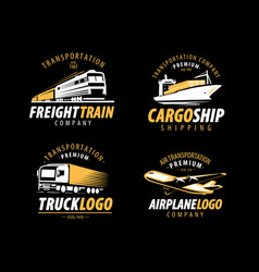 Transportation shipping logo cargo transport vector