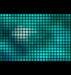 turquoise green abstract rounded mosaic vector image