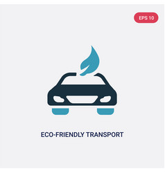 Two color eco-friendly transport icon from vector