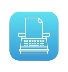 Typewriter line icon vector image