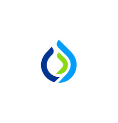 Water drop line ecology logo vector
