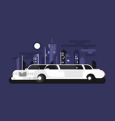 White limousine car vector