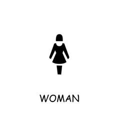 Woman flat icon vector
