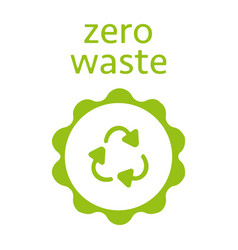 zero waste recycling sign icon modern vector image