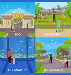 zoo 2x2 design concept vector image