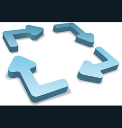 3d recycle arrows vector image vector image
