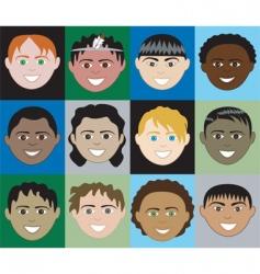 boys faces vector image vector image
