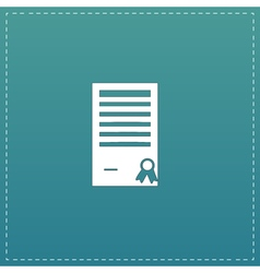 Certificate flat icon vector