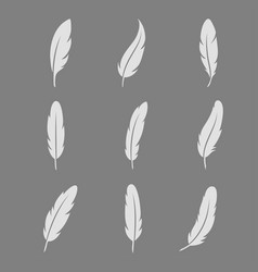 feather icon set vector image vector image