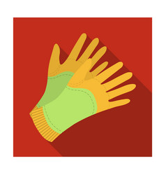 garden gloves to work with the land in the garden vector image