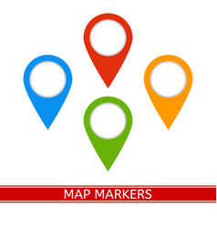map markers icon vector image vector image