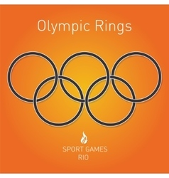 Olympic rings Sport games Rio vector image
