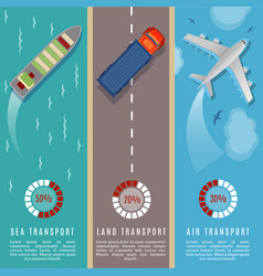 transportation top view infographics vector image