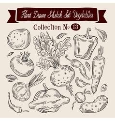 vegetables logo design template harvest vector image vector image
