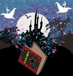 Black Magic Book vector image vector image