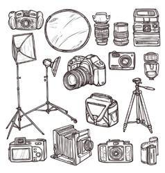 Camera Icons Set vector image vector image