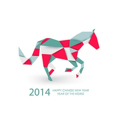 Chinese new year of the Horse abstract triangle vector image vector image