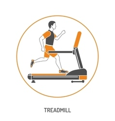 Runner on Treadmill Concept vector image vector image