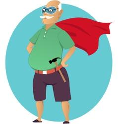 Super grandpa vector image vector image