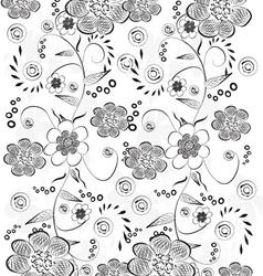 Black floral background vector image vector image