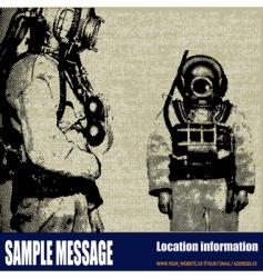 deep sea diver background vector image